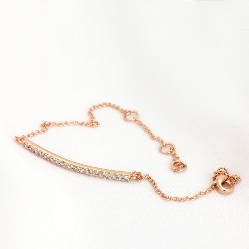 Simple Rose Gold Bar Bracelet