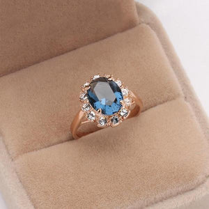 Blue Austrian Jewel Ring