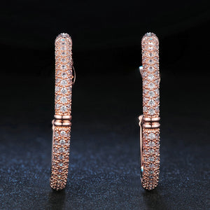 Mosaic Hoop Earrings