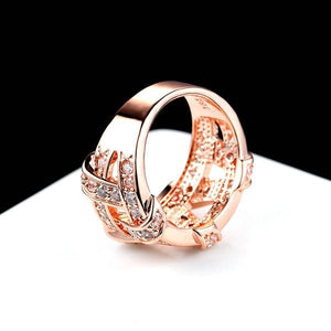 Rose Gold Braided Ring