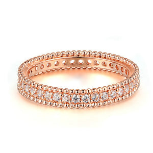 Rose Gold Bejewelled Ring