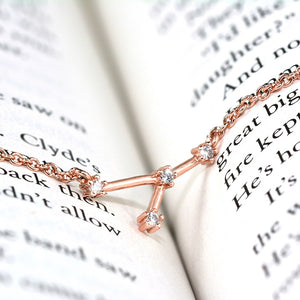 Cancer Constellation Rose Gold Necklace