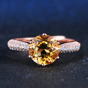 Luxury Pave Citrine Ring