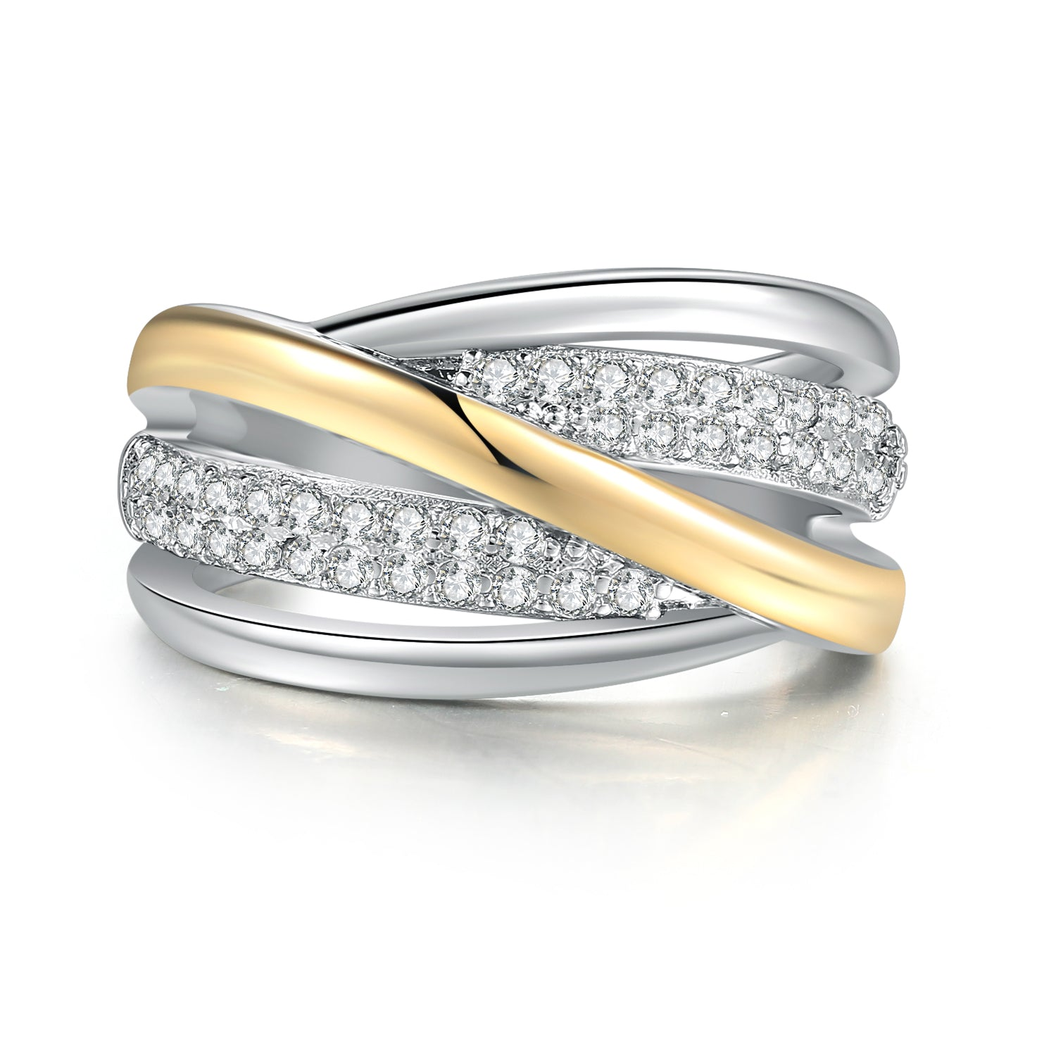 Intertwined Double Tone Ring