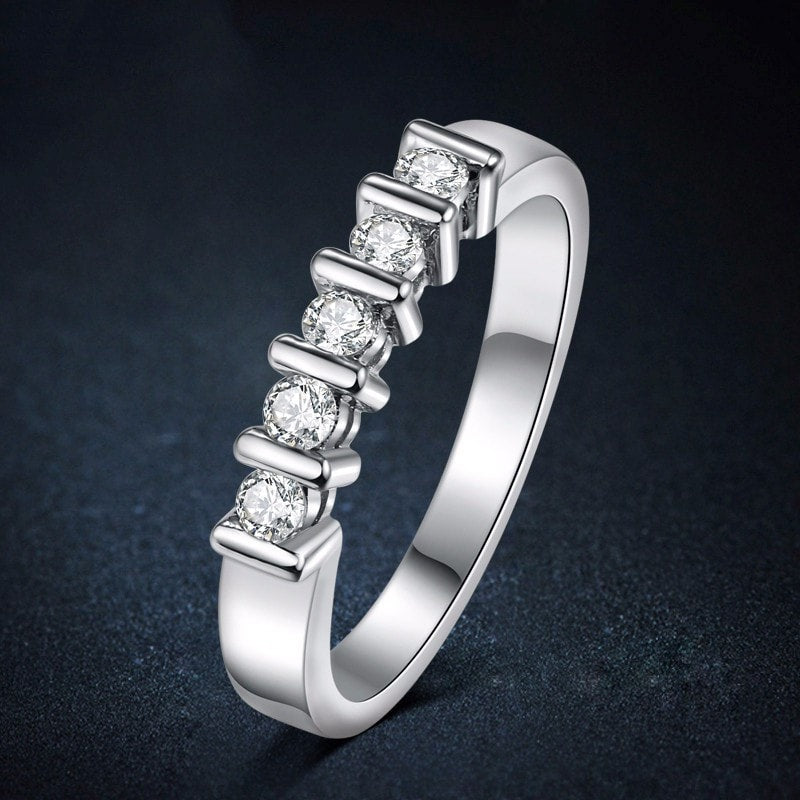 Modern Five Stone Ring