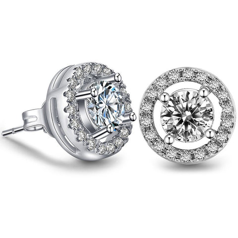White Gold Stud Earring