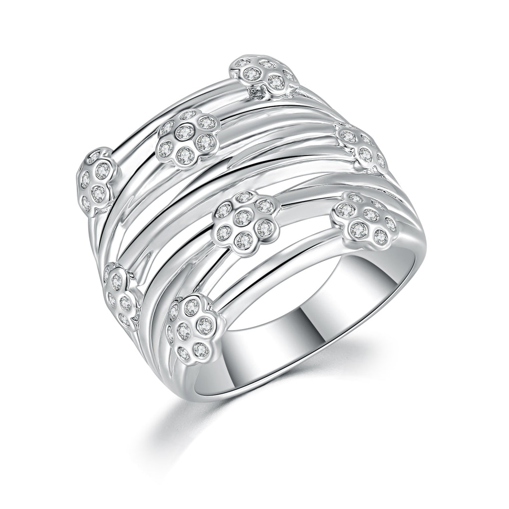 Wrapped Floral Ring