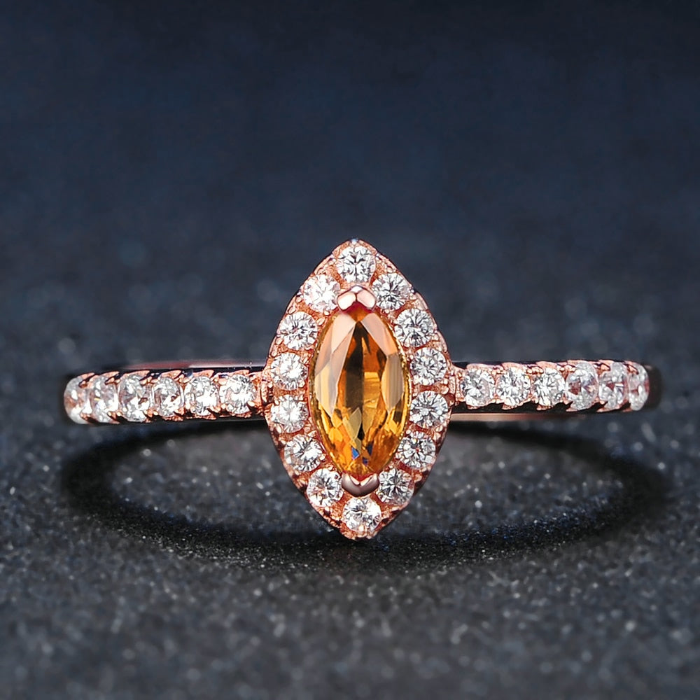 Horse Eye Citrine Ring