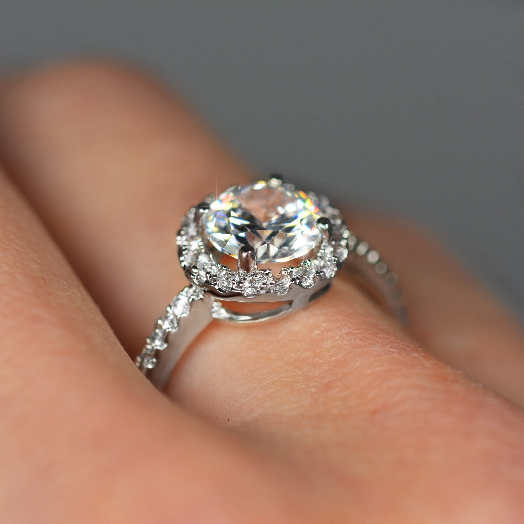 Princess Cut Circle Ring