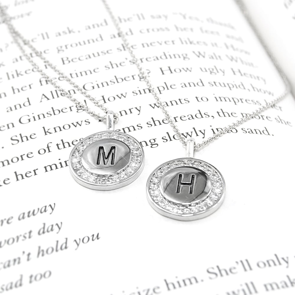 Silver Custom Letter Necklace