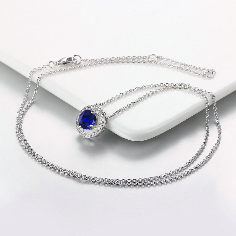 Blue Halo Necklace