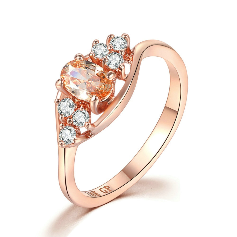 Orange Oval Cut Ring