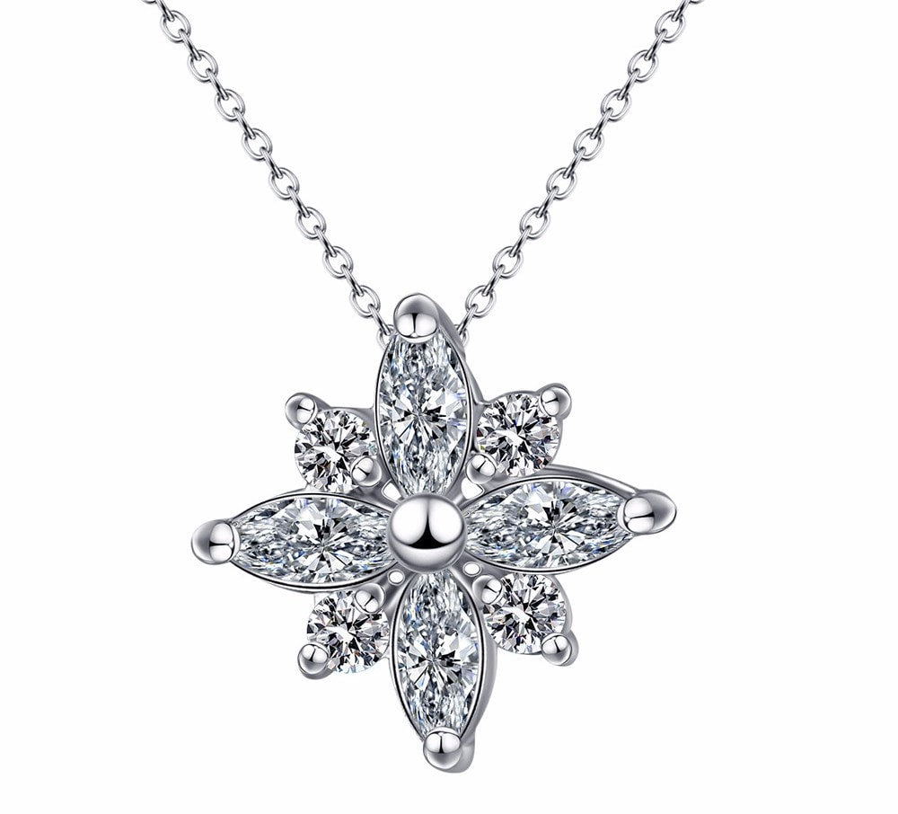 Platinum Star Necklace