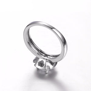 White Gold Blossom Ring