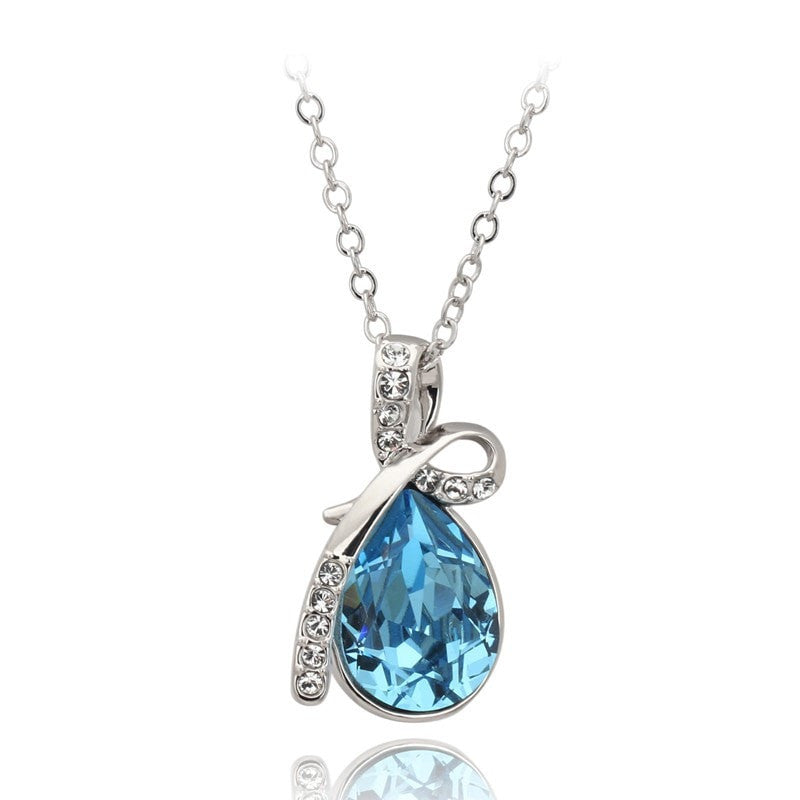 Ocean Blue Teardrop Necklace