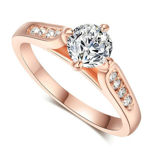 Brilliant Rose Gold Accent Ring