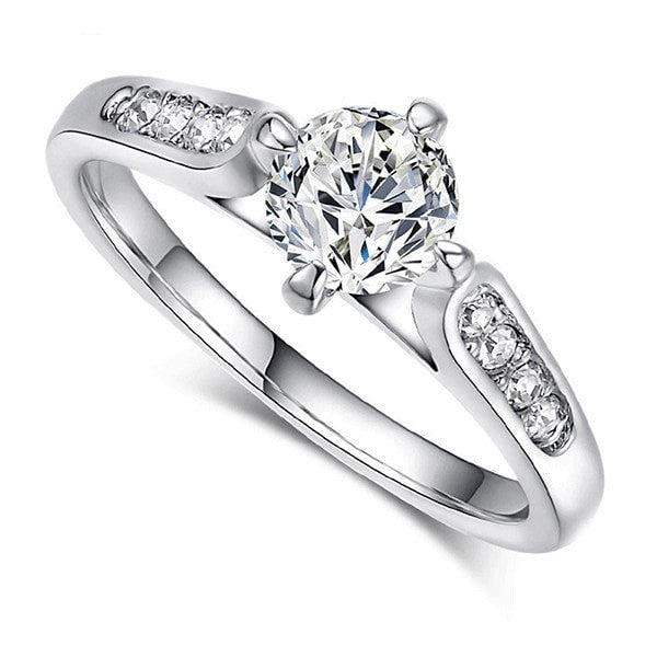 Brilliant Platinum Accent Ring