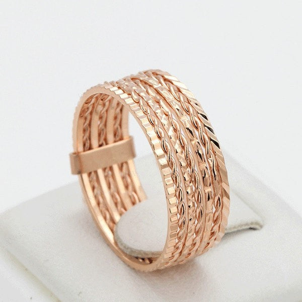 Rose Gold Stacked Rings
