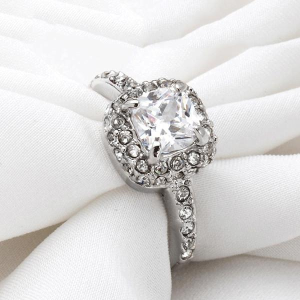 Luxury Square Halo Ring
