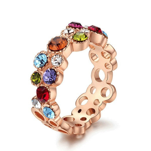 Luxury Multicolour Crystal Ring