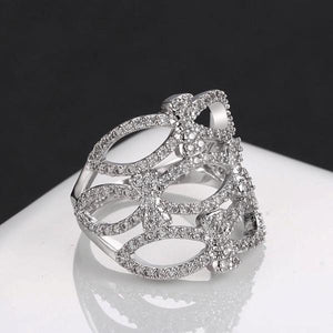 Stunning Lattice Ring