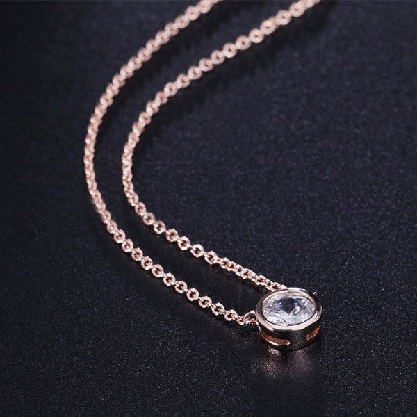 Elegant Round Pendant Necklace