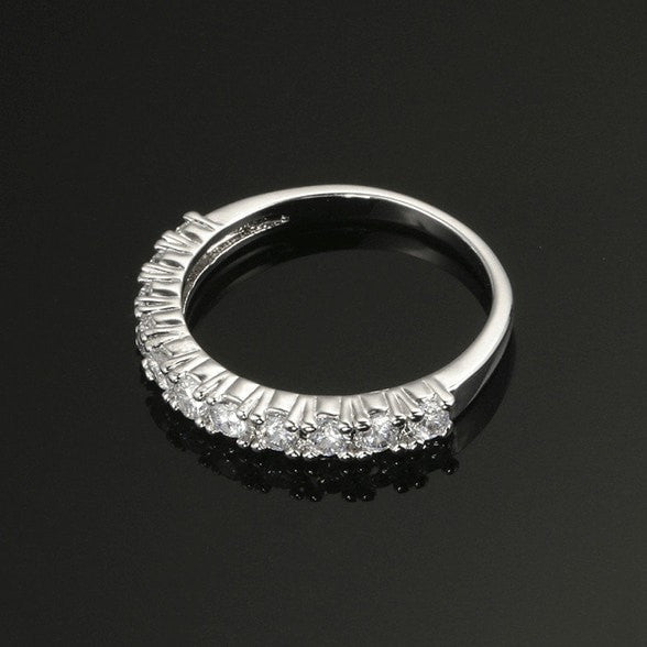 Eleven Stone Pave Ring