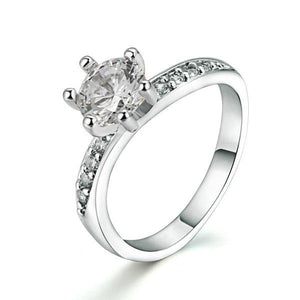 Diamond Banded Solitaire Ring