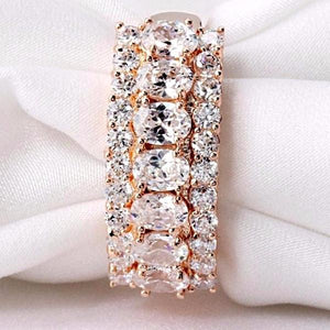 Rose Gold Luxury Cluster Ring
