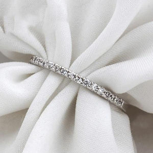Dainty Studded Platinum Ring