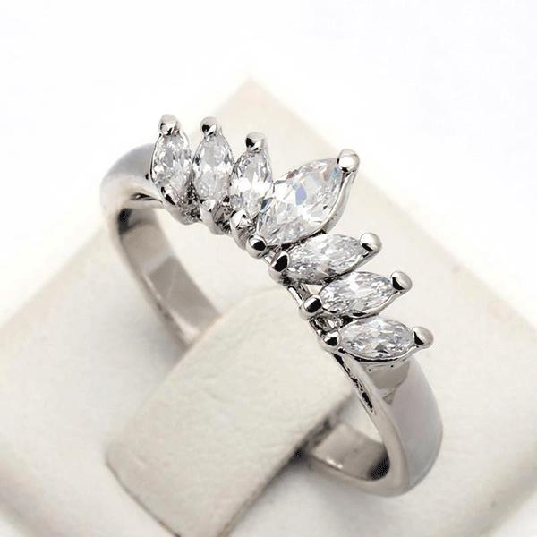White Gold Marquis Ring