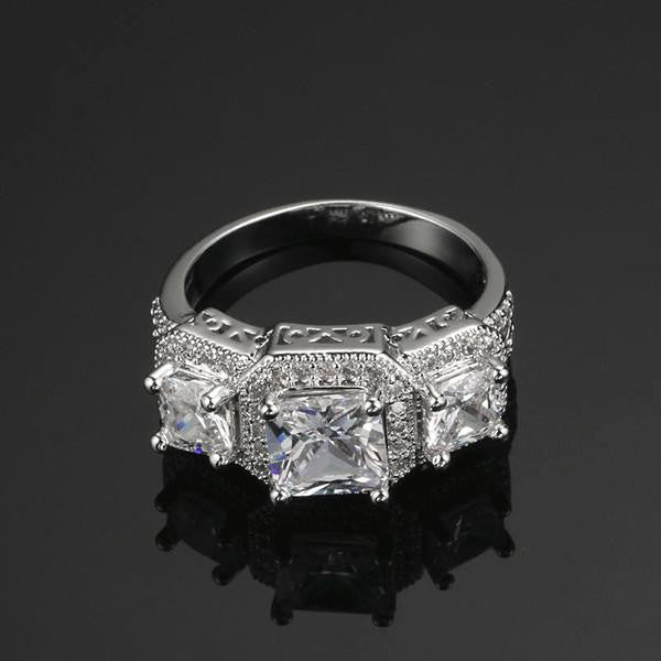 Brilliant Platinum Triple Ring