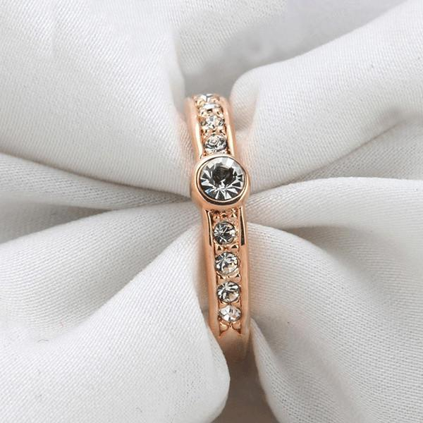 Rose Gold Austrian Ring