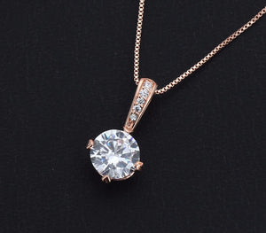 Rose Gold Luxury Stone Necklace