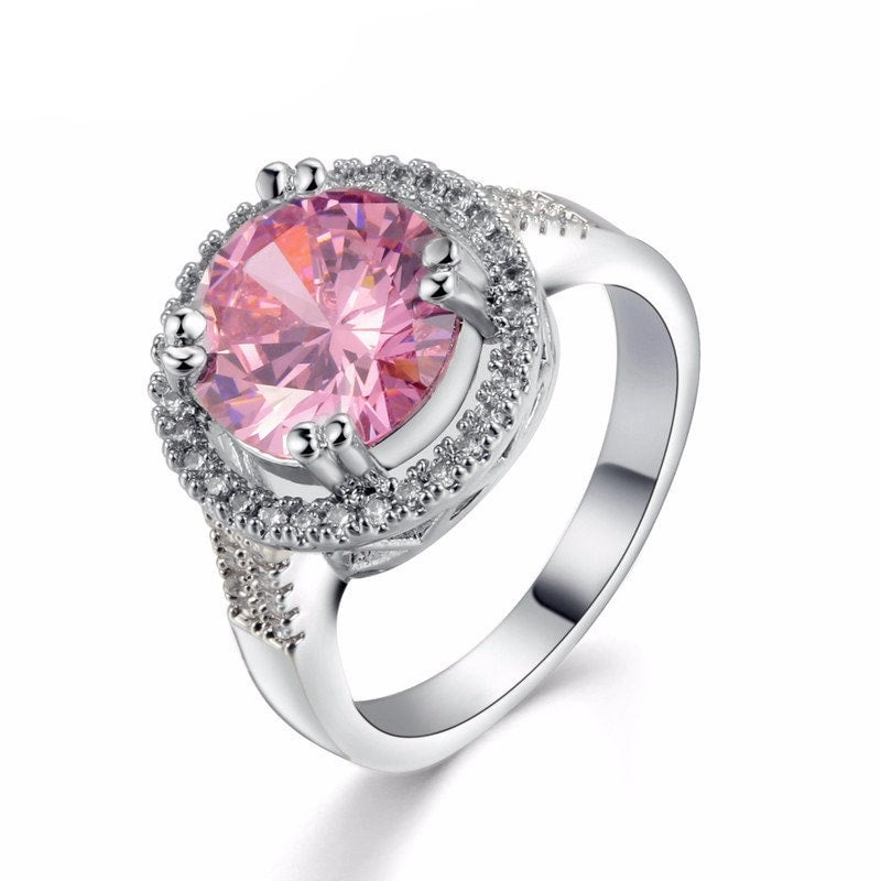 Luxury Pink Stone Ring