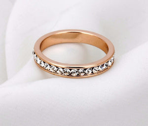 Rose Gold Stone Ring