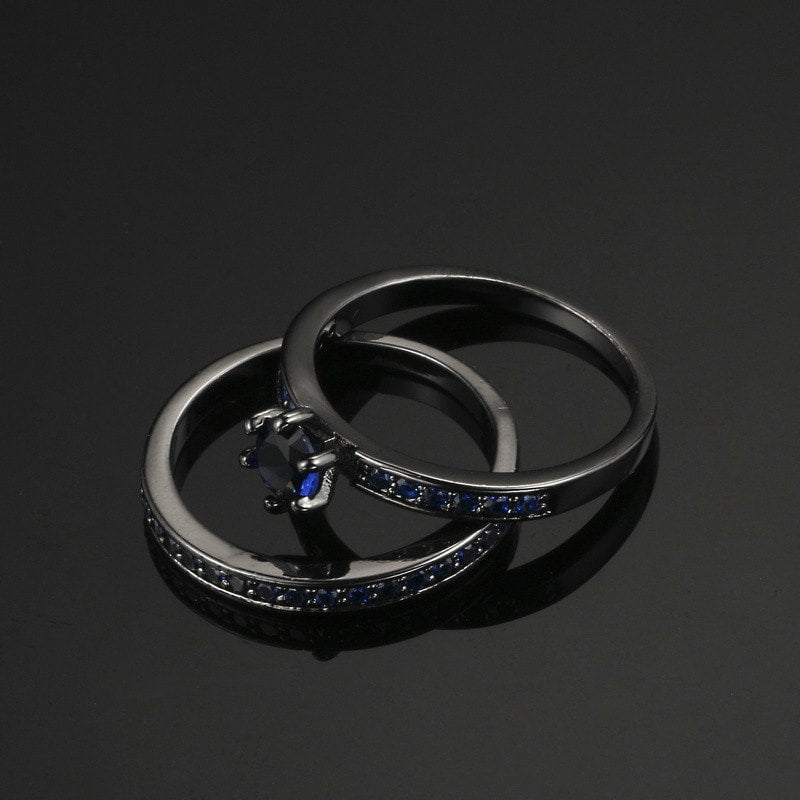 Black Gold Vintage Blue Diamond