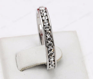 White Gold Studded Luxury Ring