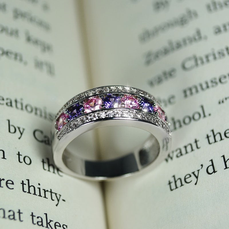 Purple Gemstone Luxury Ring