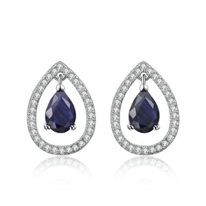 Classic Teardrop Sapphire Earrings