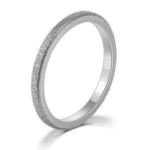 Textured Titanium Silver Band