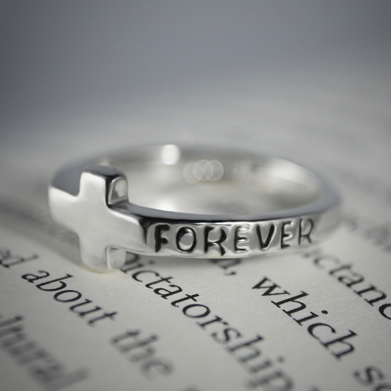 Forever Cross Faith Ring
