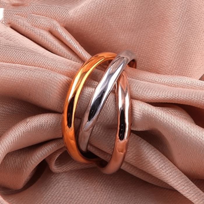 Triple Tone Infinity Ring