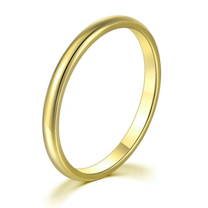 Smooth Titanium Yellow Gold Band
