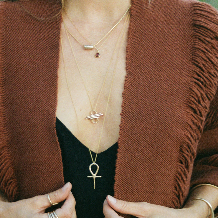Ankh Necklace | Solid Gold - Catori Life