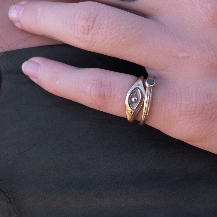Evil Eye Ring | Solid Gold - Catori Life
