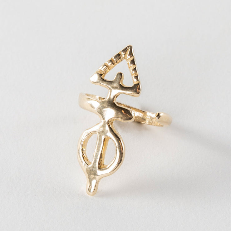 Ma'at Elemental Ring | Solid Gold - Catori Life