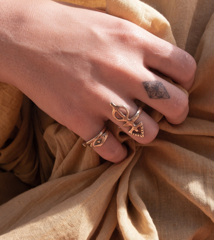 Ma'at Elemental Wrap Ring | Gold - Catori Life