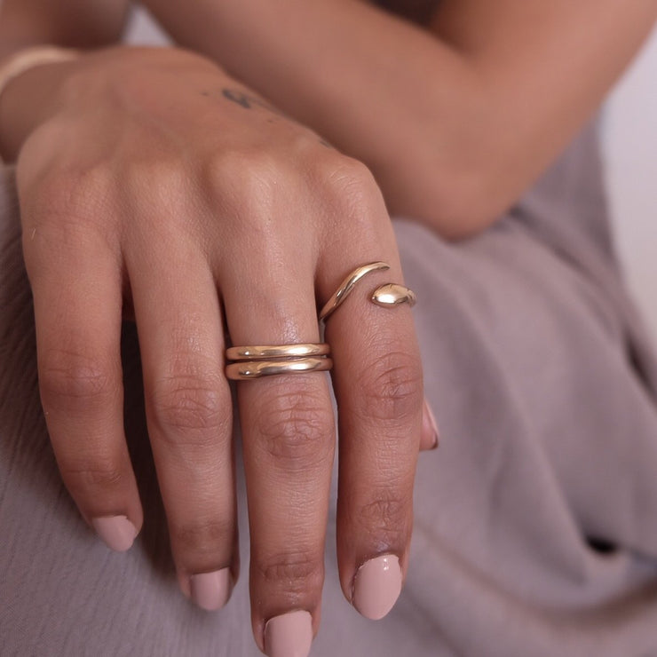 Serpent Wrap Ring | Solid Gold - Catori Life