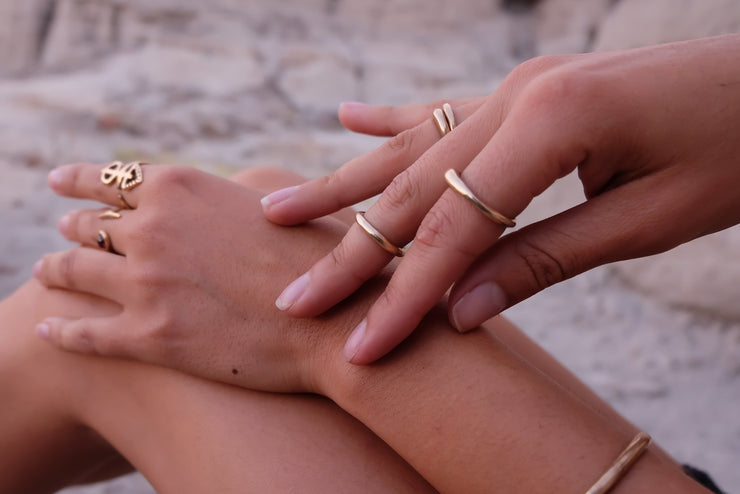 Wabi Stacking Ring | Solid Gold - Catori Life